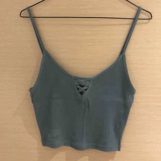 Topshop Cropped Sleeveless Top