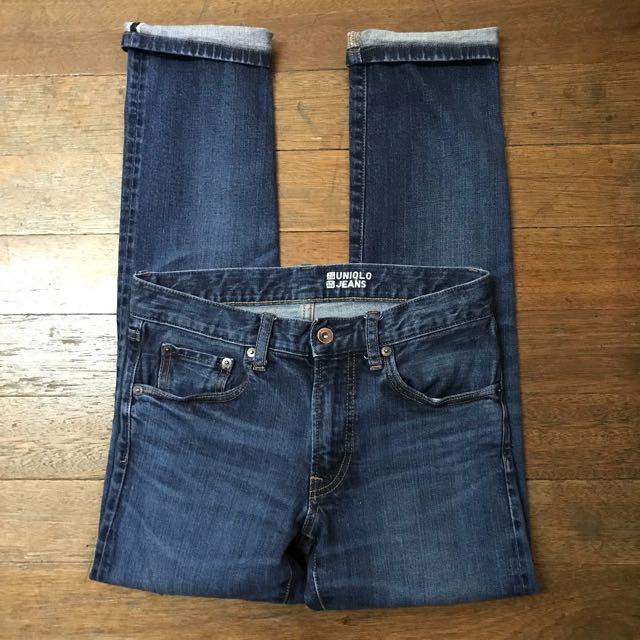 """UNIQLO denim pants slim fit size 29-30"""""""