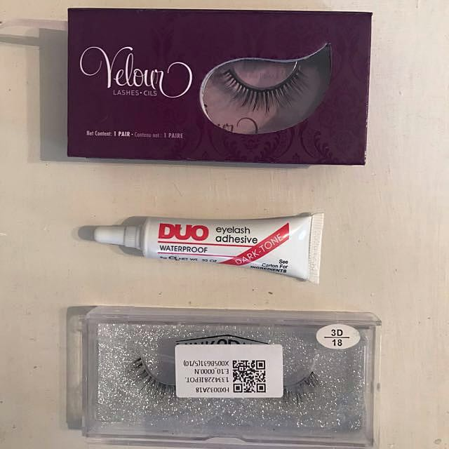 Velour False Lashes (Are They Real) + Mink Lashes (unknown brand)