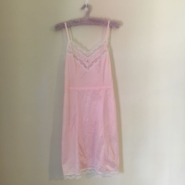 Vintage Baby Pink Slip Dress