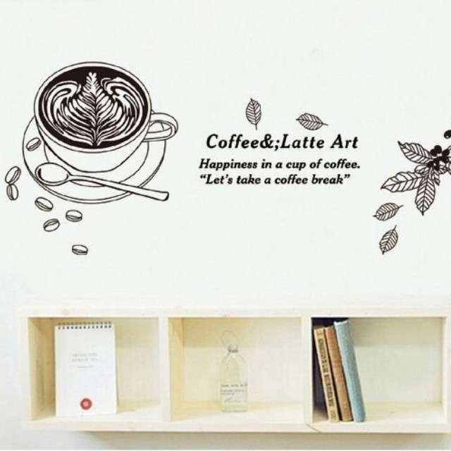 Wall sticker stiker tembok kopi 50x70