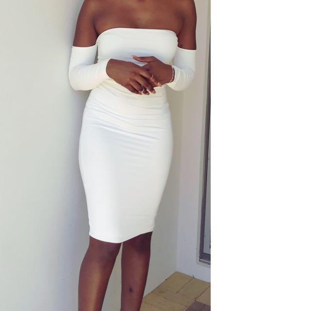 White meshki dress