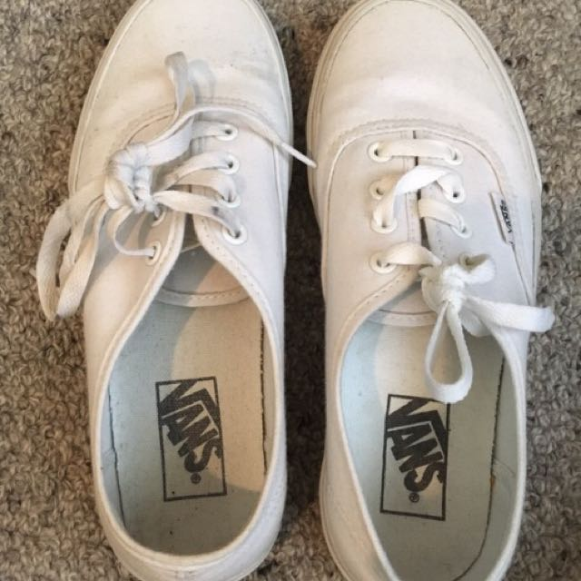 White Vans Shoes Size 7.5