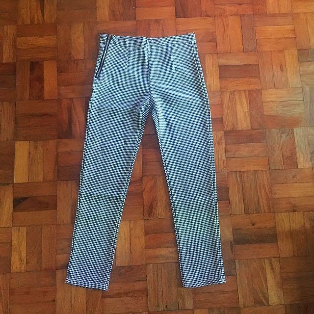 XOXO Black & White Zipper Pants / Trousers