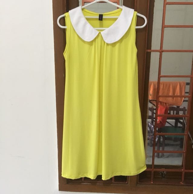 Yellow Collar Dress