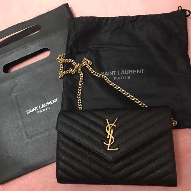 ysl saint laurent woc 鏈包 黑色金鏈