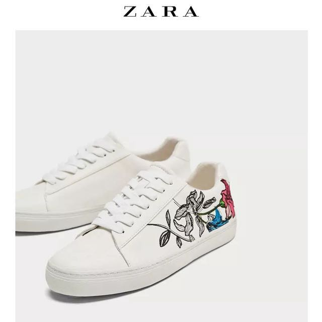 ZARA Embroidered Sneakers, Women's