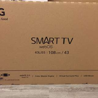 "LG 43"" Inch Smart TV - 43LJ55"