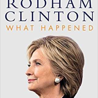 Hillary Rodham Clinton What Happened hardcover copy