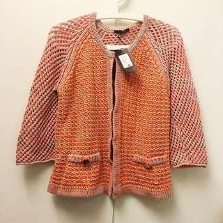 <出清>義大利品牌PINKO 棉質針織小外套