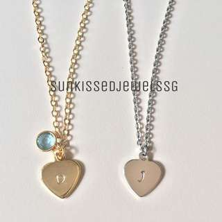 Customised Heart Initial Necklace