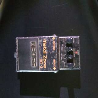 Efek gitar mt 2 metal zone made in taiwan