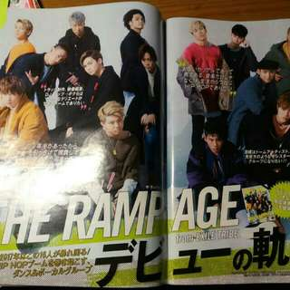 THE RAMPAGE from EXILE TRIBE 雜誌切頁