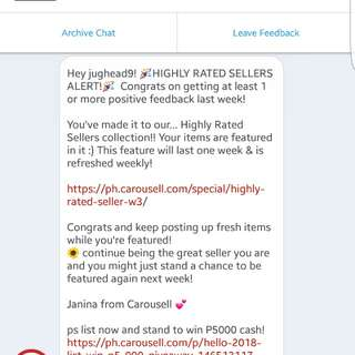 Thank you Carousell!👏😇