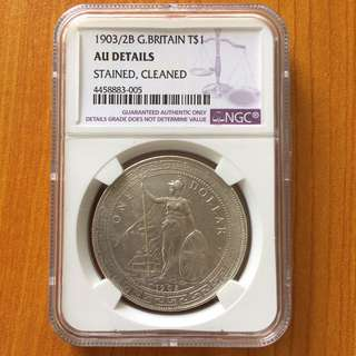 British Trade Dollar 1903 overdate 1902 $1 silver coin