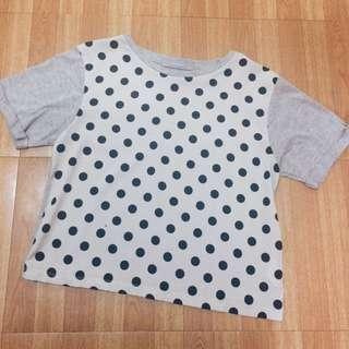 Human polka dots crop top