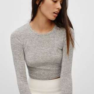 Wilfred Free grey long sleeve crop