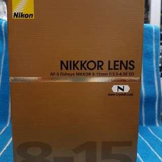 Nikon Afs 8-15/4 E N