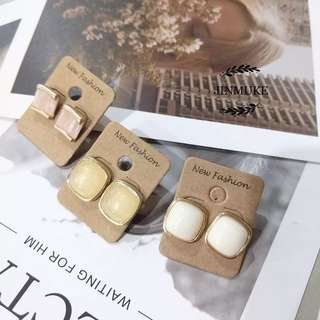 JINMUKE韓國進口東大門復古氣質四方百搭特別耳環