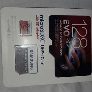 Samsung Evo 128G micro SD card with Adapter