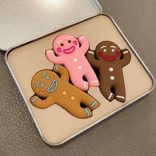 薑餅人耳機集線器(3入組)