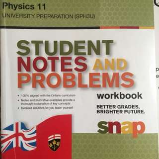 PHYSICS 11 University Prep (SPH3U)