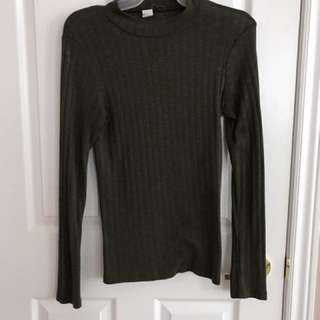 Olive turtle neck top size small