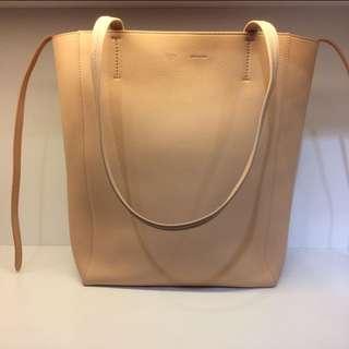 正品 全新 Celine Cabas 粉色牛皮Tote Bag 上膊袋 内併銀色