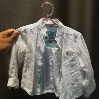 Poney White Shirt 6-12m