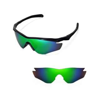 88e7ecee38 M2 Emerald Green Polarized Walleva Replacement Lenses for Oakley M2  Sunglasses