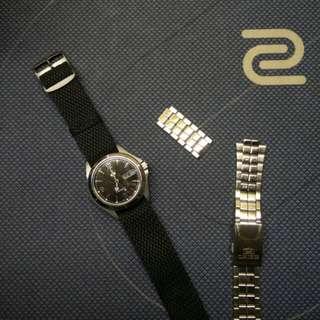 Seiko 5 Automatic with perlon/metal strap