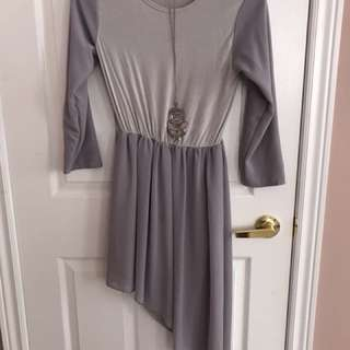 Grey a lined shirt size m