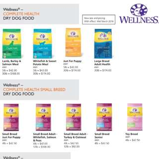 Wellness complete health dog dry food