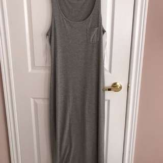 Grey maxi dress size m