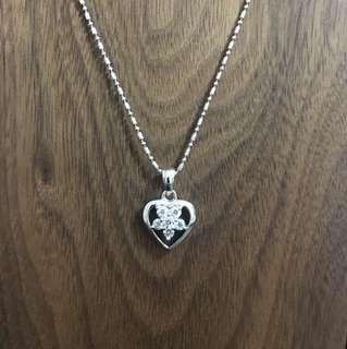 925 silver 心形吊墜(不包括頸鏈)