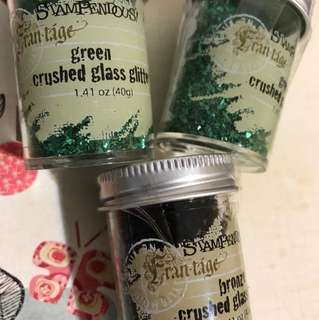 Stampendous crushed glass glitter scrapbooking gift cards