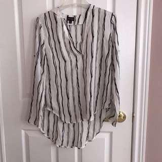 White striped top size m