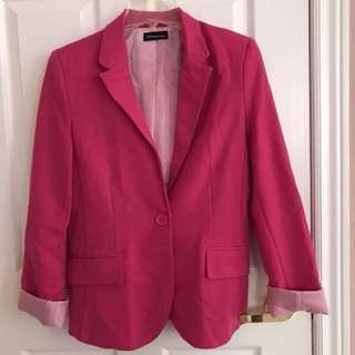 Hot pink blazer size m