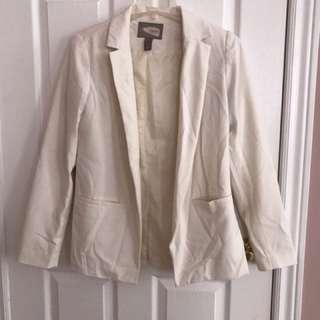 Forever 21 off white blazer size m
