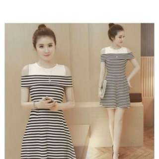 Dress wanita marissa stripes
