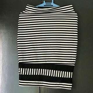 Bandage skirt in stripe