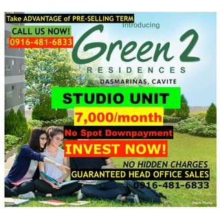 For Sale: STUDIO Unit at SMDC Green 2 Residences Dasma Cavite City