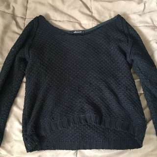 Black Knitted Sweater.