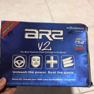 aR2 V2 (cheat cartridge) for PS2.