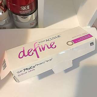 1-day One Day Acuvue Define Color Cons Contact Lens Brown Lens 大眼仔 隱形眼鏡 彩瞳
