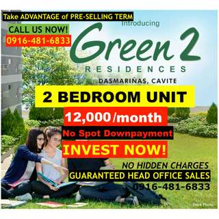 For Sale: 2 BEDROOM Unit at SMDC Green Residences DLSU Dasma Cavite
