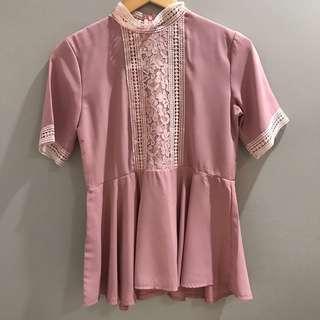 baju atasan pink cantik