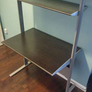 Ikea fredrik adjustable shelves computer desk