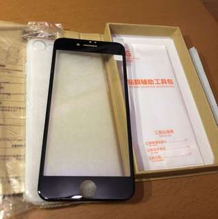 iPhone 7/8 Tempered glass + free soft case, anti-bluelight