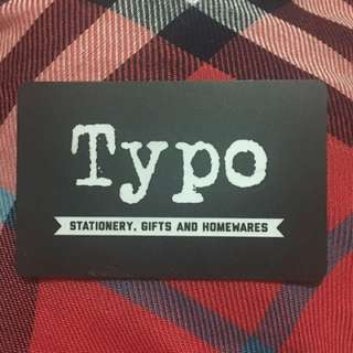 $30 TYPO Gift Card